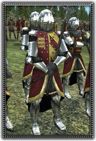 Dismounted English Knights